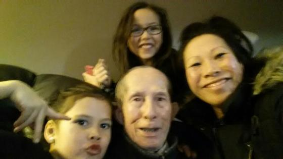 Mr. Ngo with daughter and granddaughters.