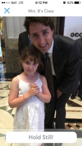 Eowyn and Prime Minister Trudeau.